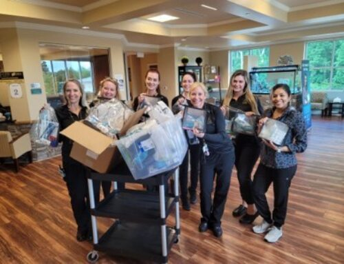 Mooresville Dermatology Center Donates Toiletry Bags to Hope of Mooresville